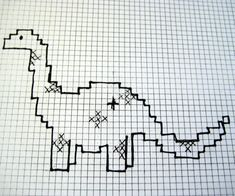 free easy beginner cross stitch patterns | Download the polka dotted dino { here }
