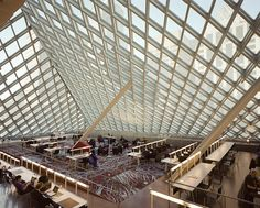 Top Floor of Seattle Public Library-Central Branch