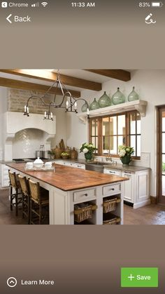 White cabinets; oak trim   For the Home   White kitchen ...