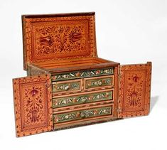Marquetry, Wooden Boxes, Antique Furniture, Cabinets, 18th, Decorative Boxes, Antiques, Ideas, Design