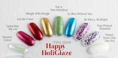 ZigiZtyle: China Glaze Happy HoliGlaze -joululakkoja