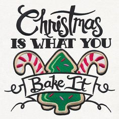 Naughty & Spice - Christmas Is What You Bake It | Urban Threads: Unique and Awesome Embroidery Designs