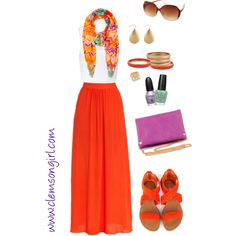 """""""Clemson Gameday Look - Maxi-mum Style"""" by clemson-girl on Polyvore"""