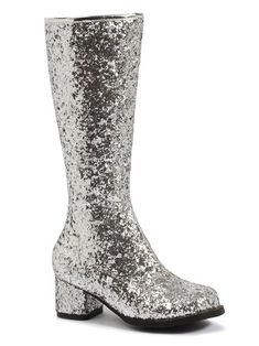 3f8d69adb Check out Silver Glitter Gogo Boots For Children - Costume Accessories for  2018