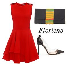 """""""Florieks"""" by sarphowaa ❤ liked on Polyvore featuring moda, Gianvito Rossi e Alexander McQueen"""