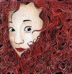 The Brave in me Self portrait Medium: Pen and colorpencil #Brave #Illustration #Selfportrait