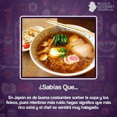 ¿#SabíasQue En Japón es buenas costumbres sorber la sopa y los fideos? #Curiosidades #Gastronomía
