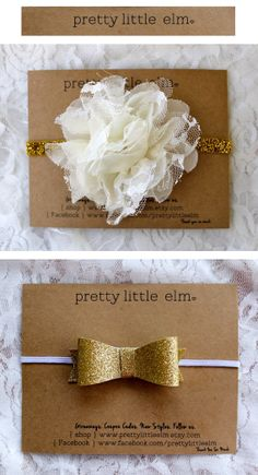 Pretty Little Elm baby girl headbands. For when our baby girl has no hair yet!