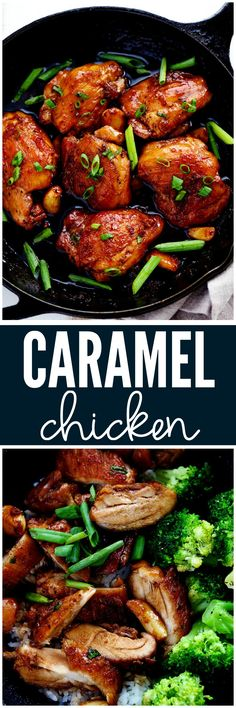 Caramel Chicken at http:∕∕therecipecritic.com The most AMAZING one skillet 30 minute meal that is glazed to perfection!