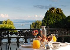 Enjoy the view from the deluxe corner suite balcony at Baur au Lac in Switzerland #travel
