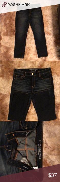 American Eagle Jeans New very nice blue jeans never worn. Very nice jeans, l love these. You can wear these with a cute dress shirt or just a cute t-shirt. My loss is your gain. American Eagle Outfitters Jeans Skinny