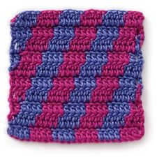 Stitchfinder : Crochet Stitch: Diagonal Stripes : Frequently-Asked Questions (FAQ) about Knitting and Crochet : Lion Brand Yarn