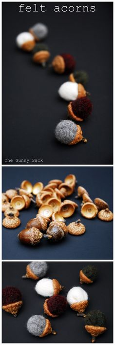 Decorate your mantel this autumn with some DIY Felt Acorns! #craft #fall