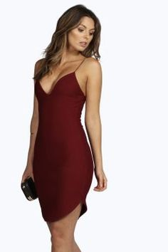 Christel Curved Hem Strappy Bodycon Dress at boohoo.com Sequin Dress 549ef32c7