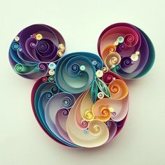 mickey mouse using quilling paper art