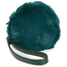 Women's Evelyn K Macaron Faux Fur Wristlet ($34) ❤ liked on Polyvore featuring bags, handbags, clutches, green, faux fur purse, faux fur handbags, wristlet clutches, green handbags and blue purse