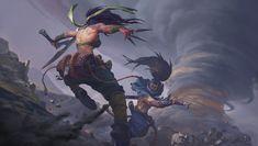 Akali and Yasuo, Song Nan Li - League of Legends Lol League Of Legends, League Of Legends Charaktere, Fantasy Male, Fantasy Girl, Final Fantasy, Fanart, Akali Lol, Legend Drawing, Ouvrages D'art