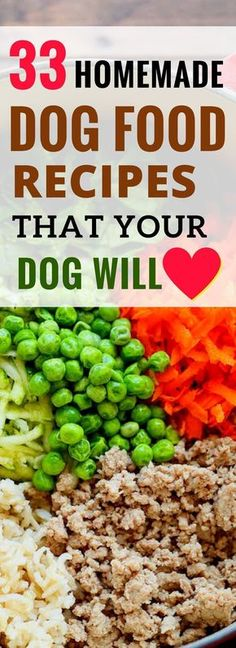 33 Best Homemade Dog Food Recipes that are Vet Approved. Your Dog Will Love Thes - Dog Food - Ideas of Dog Food - 33 Best Homemade Dog Food Recipes that are Vet Approved. Your Dog Will Love These. Dog Biscuit Recipes, Dog Treat Recipes, Healthy Dog Treats, Dog Food Recipes, Doggie Treats, Healthy Food, Dog Chews, Best Organic Dog Food, Best Homemade Dog Food