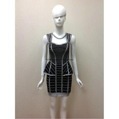 Herve Leger Black Beaded Sexy Bandage Dress H623LSB