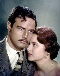 Marlon Brando and Jean Peters/Viva Zapata !/1952 directed by Elia Kazan
