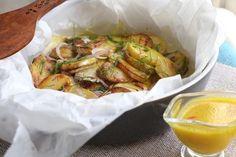 Bramborový salát s citrónovo-šafránovou zálivkou Shrimp, Meat, Food, Lemon, Essen, Meals, Yemek, Eten