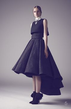 nothing less than royal for your big day: Mohammed Ashi's Fall 2014 Couture Bridal Gowns - black gown for wedding