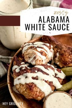 Alabama White Sauce is a creamy, tangy, and rich BBQ sauce with just a kiss of heat. A classic Alabama BBQ sauce that is perfect on smoked chicken and more!