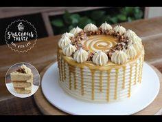 Scotch Cake Recipe, Cake Receipe, Homemade Birthday Cakes, Homemade Cakes, Praline Recipe, Praline Cake, Kulfi Recipe, Butterscotch Cake, Cake Decorating Videos