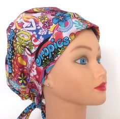 A personal favorite from my Etsy shop https://www.etsy.com/listing/262686024/women-surgical-hat-simply-tie-back