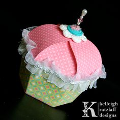 cupcake shaped box template and tutorial