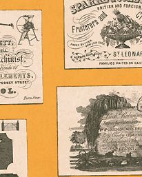 Tapet Trade Cards Yellow från Lewis & Wood