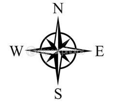 schwarz weiß Windrose