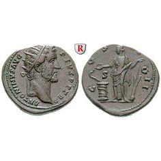 Römische Kaiserzeit, Antoninus Pius, Dupondius 145-161, f.vz: Antoninus Pius 138-161. Messing-Dupondius 26 mm 145-161 Rom. Kopf r.… #coins