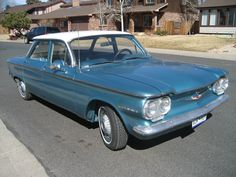 1960 Corvair in blue