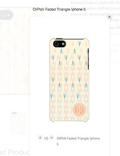 Peaches and cream... ok and blue and aqua! http://www.olipolli.co.uk/product/olipolli-faded-triangle-phone-case/