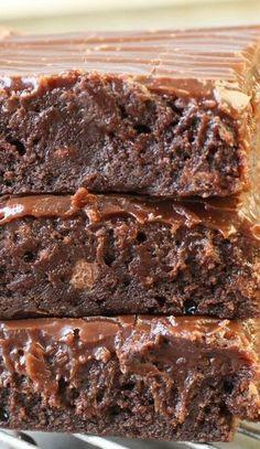 Milk Chocolate Brownie Explosion Recipe ~ Rich, fudgy and decadent these Milk Chocolate Brownies with a creamy milk chocolate ganache...  so addicting!