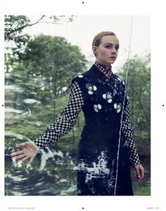 Carey Mulligan in a bubble in AnOther Magazine 23, shot by Craig McDean and styled by Olivier Rizzo