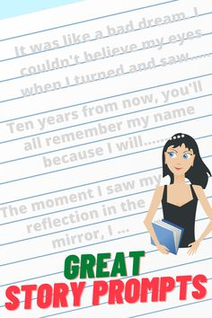 Get your students excited about writing by sharing these fun, thought-provoking and inspiring writing prompts. They're the perfect story starters for getting their creative juices flowing.. #creativewritingprompts #storystarters #PromptsForWriting Expository Writing, Narrative Writing, Writing A Book, Writing Strategies, Writing Lessons, Writing Resources, Middle School Writing Prompts, Creative Writing Prompts, College Admission Essay