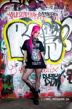 Miss  pinky-boo - modelling RAbid apparel #model #street wear #pink