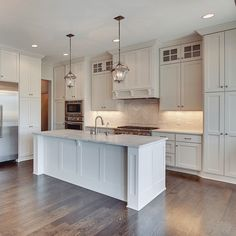 You may think an all white kitchen would be straightforward & easy, but a lot of love went into this beauty to make sure everything was perfect. Soft variations in color between the backsplash, cabinets, walls and countertops added depth and really pulled their kitchen together. #gonyea