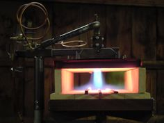 Propane gas forge, much cleaner than coal