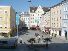 Ludwigsplatz in Rosenheim, Bavaria, Germany. Was here in 1981 and 1983