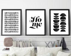 Set of 3 Prints Art Set Minimalist Posters by UrbanEpiphanyPrints