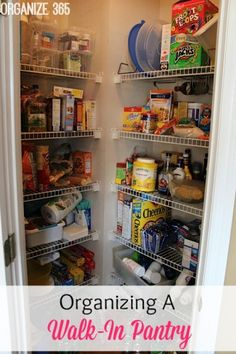 Organizing A Walk-In Pantry | Organize 365