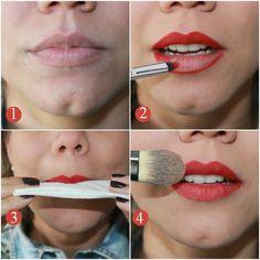 Como fazer o batom vermelho durar na boca - COQUETEL FASHION
