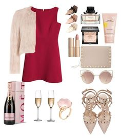 """Shades of Pink."" by agnesenapoli on Polyvore featuring Kate Spade, RED Valentino, Valentino, Urban Decay, Givenchy, Marc Jacobs, Charlotte Tilbury, MANGO, Rogaška and Moët & Chandon"