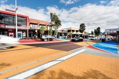 Two artist-designed artworks installed on Beaufort Street in Perth by DrainPave based on a decorative paving system are among the first on the surface of a major road in Western Australia.
