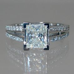 A gemstone solitaire may be the essential diamond engagement ring. Although other diamond engagement ring settings fall and rise in recognition, a solitaire ring is really a classic with constant, … Princess Cut Rings, Princess Cut Engagement Rings, Engagement Ring Cuts, Princess Cut Diamonds, Solitaire Engagement, Princess Wedding, Vintage Princess, Engagement Jewellery, Diamond Solitaire Rings