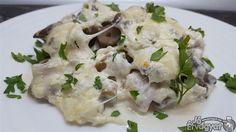 Omlós csirkecomb sajttal és gombával Potato Salad, Potatoes, Ethnic Recipes, Food, Potato, Essen, Meals, Yemek, Eten