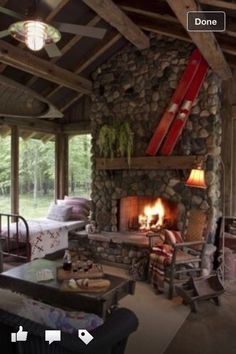 Great mountain cabin guest room